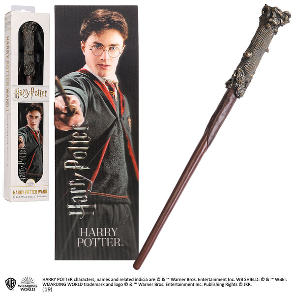 Harry Potter Toy Wand with Lenticular Bookmark