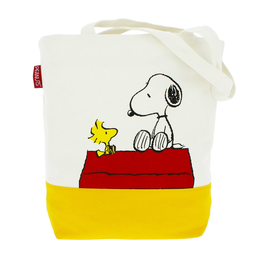 Peanuts Snoopy & Woodstock Canvas Tote
