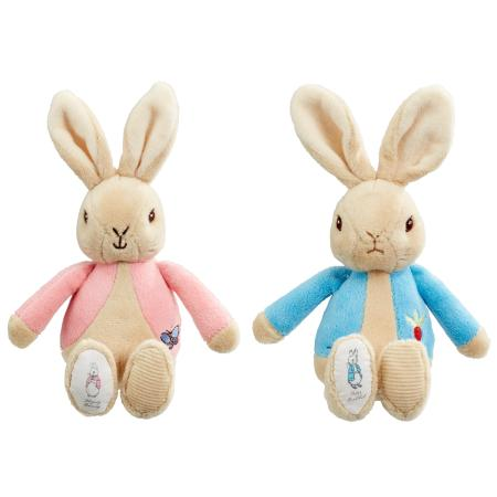 Peter Rabbit & Flopsy Bean Rattle Soft Toy