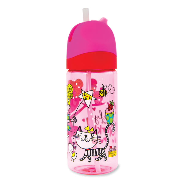 Drinks Bottle with Straw - Mary the Fairy - Pink