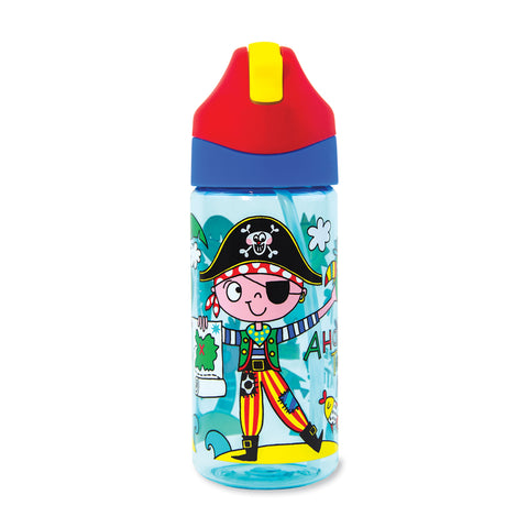 Drinks Bottle with Straw - Pirate - Rachel Ellen Designs