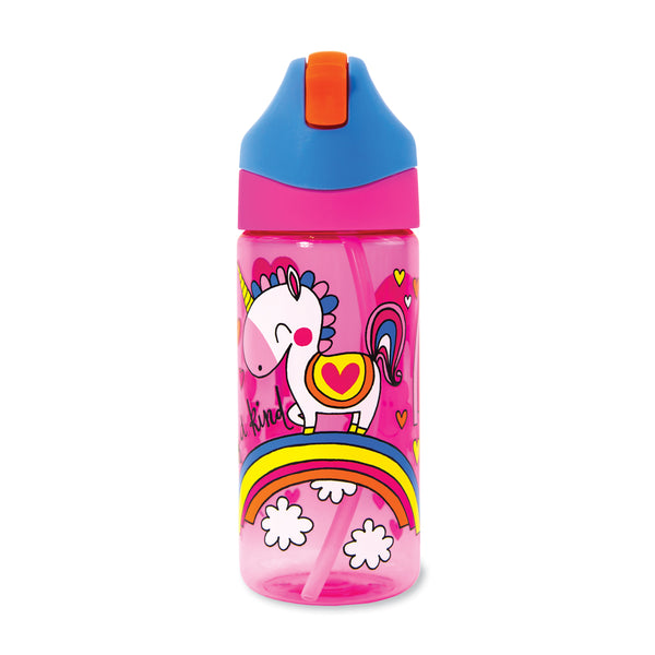 Drinks Bottle with Straw - Unicorns - One of a Kind