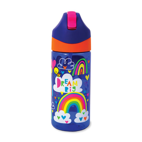 Drinks Bottle with Straw - Rainbow - Big Dreams