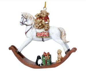 Rocking Horse Christmas Decoration by Gisela Graham