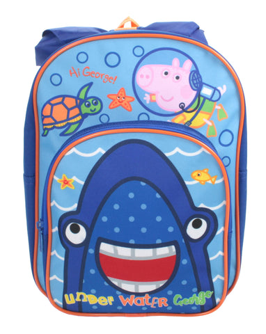George - Peppa Pig - Backpack with extra outer pocket and novelty hood