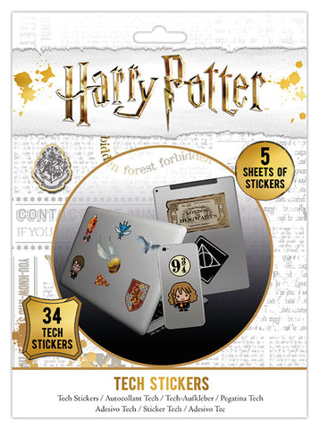 Tech Sticker Pack - 34 x Harry Potter Tech Stickers