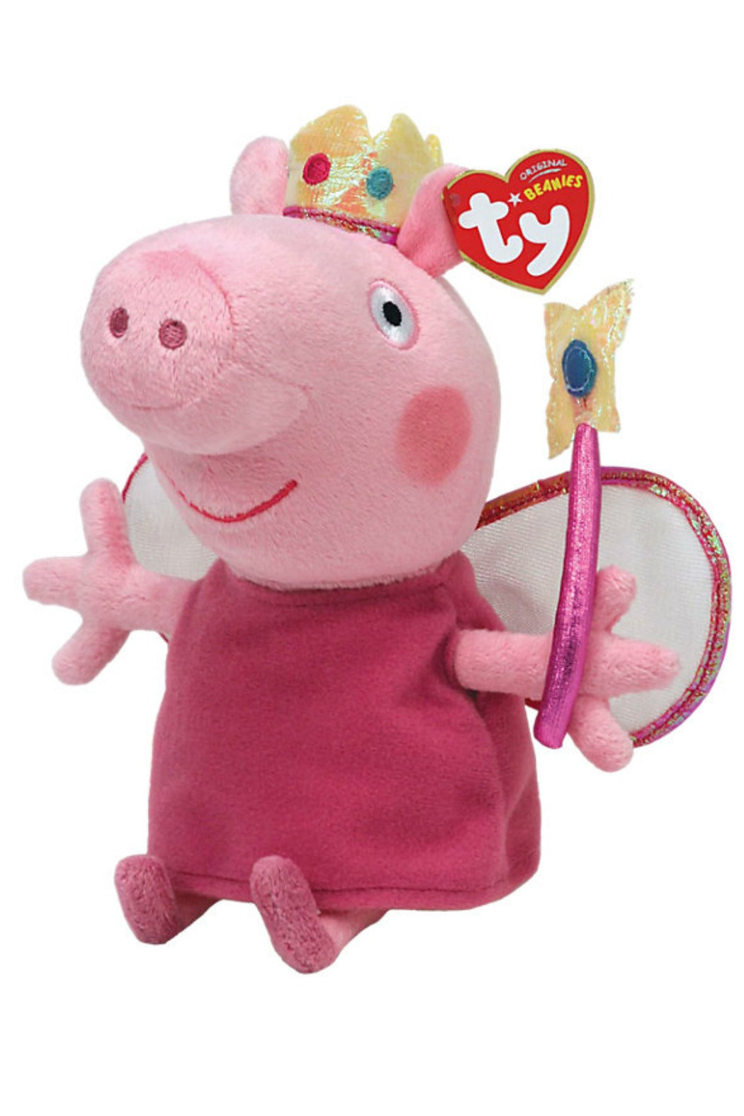 Peppa Pig Princess Fairy Beanie Plush Toy - Ty