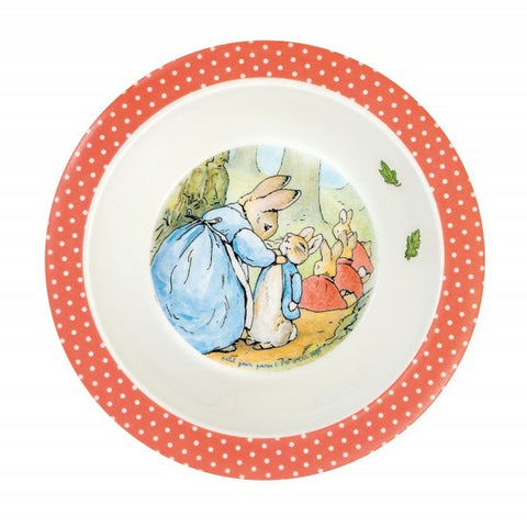 Peter Rabbit Melamine Rim Bowl - Beatrix Potter