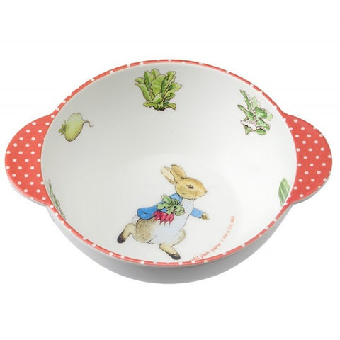 Peter Rabbit Double handle Melamine Bowl - Beatrix Potter