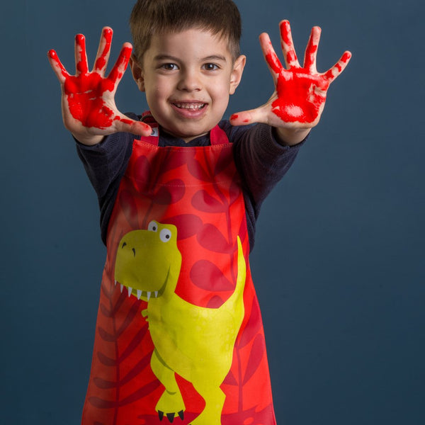 Red Dinosaur Apron - Thread Bear Designs