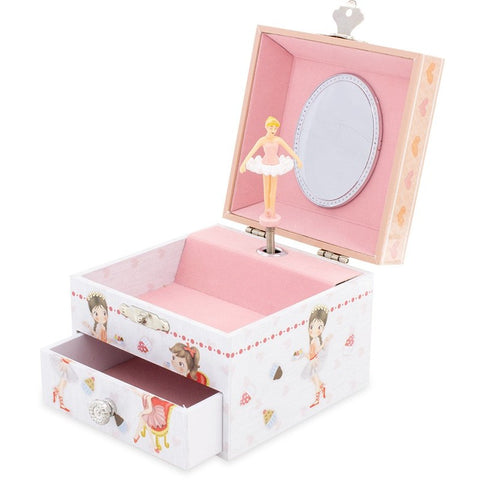 Cupcake Musical Jewellery Box with a drawer