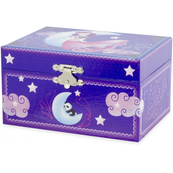 Purple Panda Musical Jewellery Box
