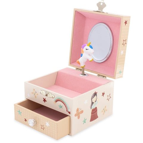 Unicorn Musical Jewellery Box with a drawer