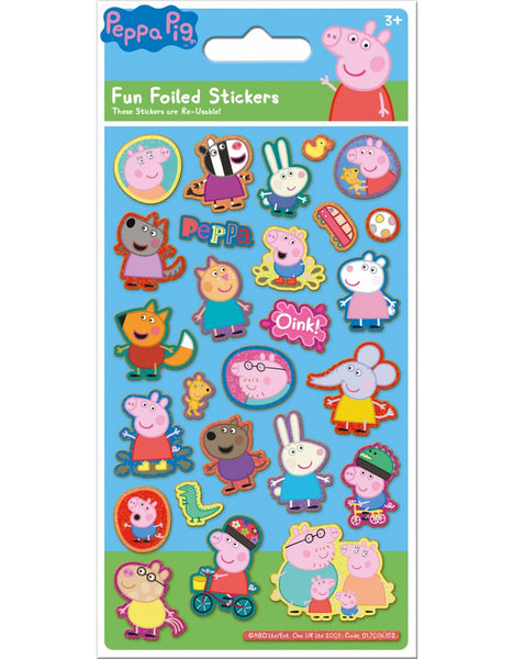 Peppa Pig Stickers - Reusable - Peelable