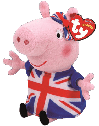 Peppa Pig in Union Jack Dress - Beanie Babies - Ty