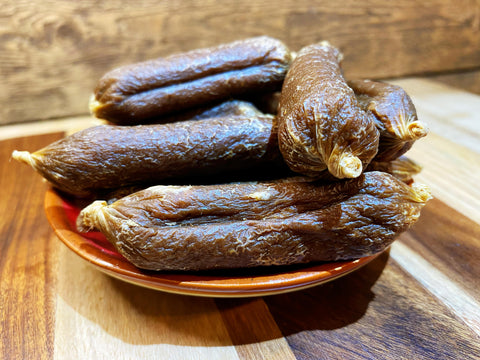 Gourmet Venison Deli Sausages Treats for Dogs 200g - The Doggy Deli