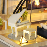 Maquette Maison Miniature Couple Goal Piano