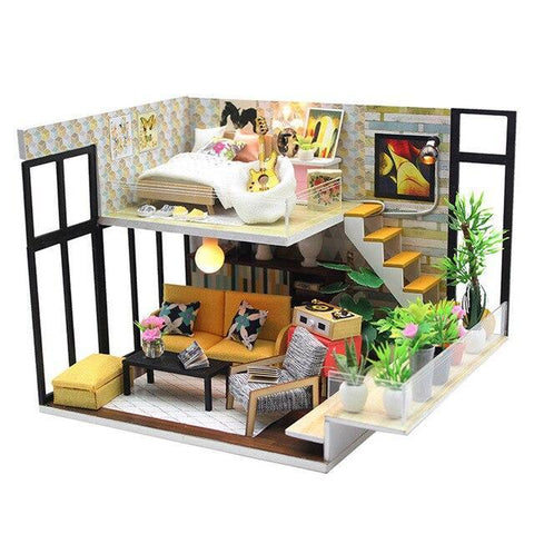 Maison Miniature Kit Chambre Guitariste | Miniature Land