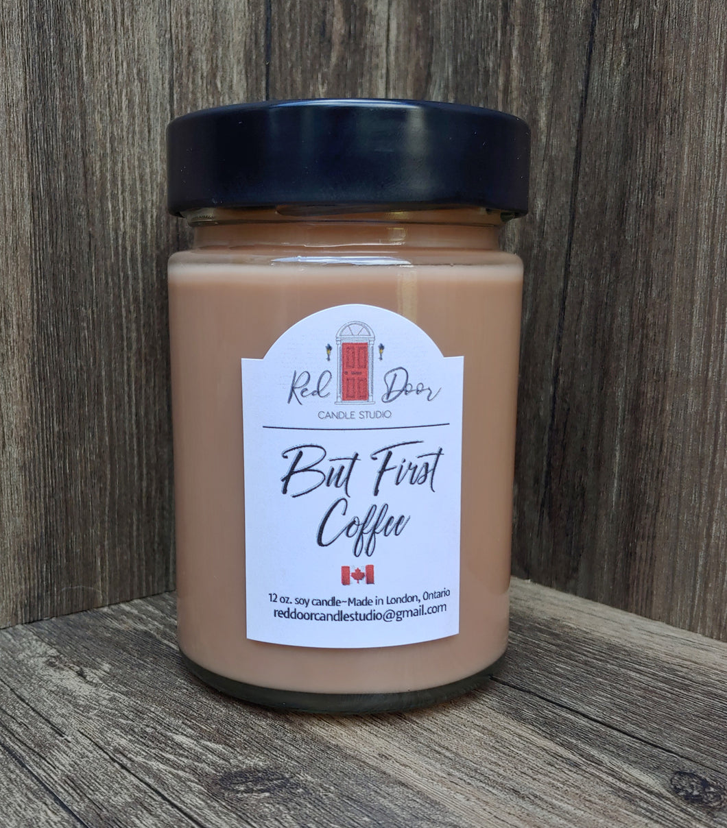 But First Coffee Soy Wax Candle-12 oz. Large