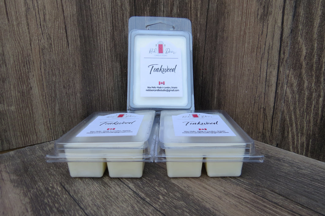 Teakwood-Wax Melts 3 Pack