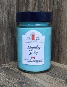 Laundry Day Soy Wax Candle-12 oz. Large