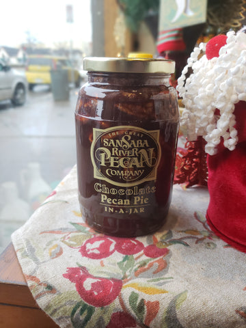 Chocolate Pecan Pie in a Jar