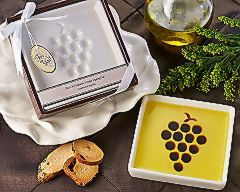 Grape Design Oil and Balsamic Dipping Plate/Bowl