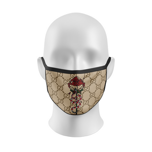 Custom Gucci Red Snake Flower Face Mask