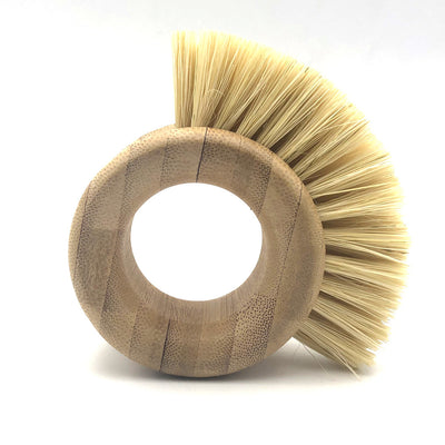 Bamboo sisal kitchen cleaning brush - Hippie Cartel