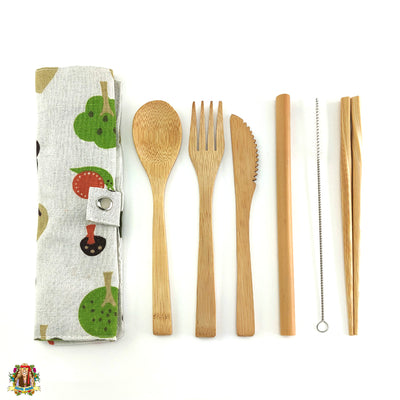 Bamboo cutlery set - Hippie Cartel
