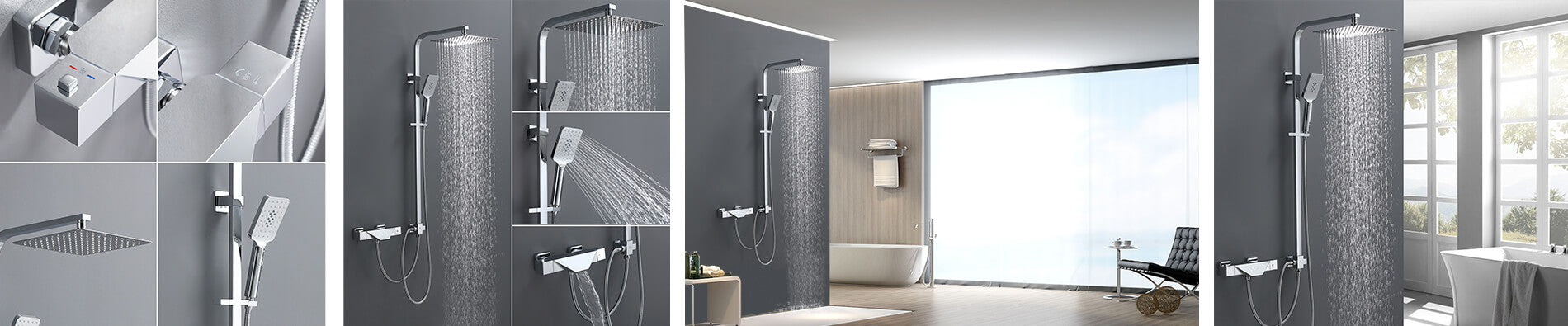 3 function shower mixer thermostatic