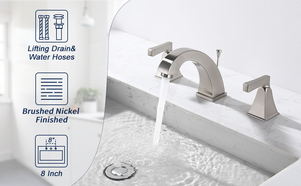 Bathroom Sink Faucet for 3 Hole