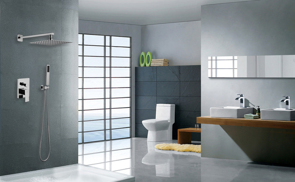 HOMELODY Brushed Nickel Shower System