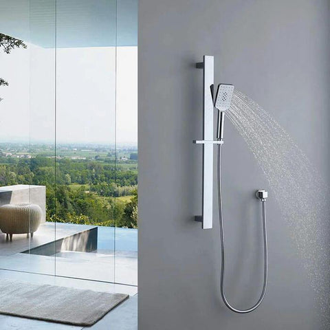 3 Jet Types Handheld Shower Homelody Square Shower Set with Height-Adjustable - Homelody