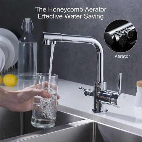 3 Way Water Filter 3 in 1 Kitchen Faucet Lever Tap Homelody - Homelody