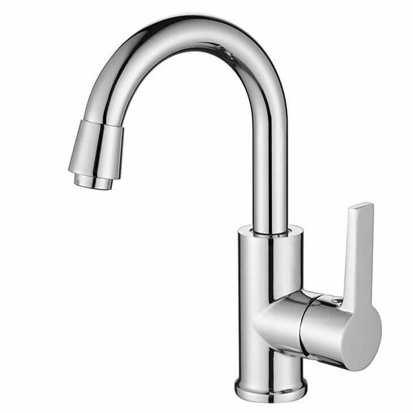 360 ° Swivel Chrome Single Lever Faucet for Kitchen or Bathroom Homelody - Homelody