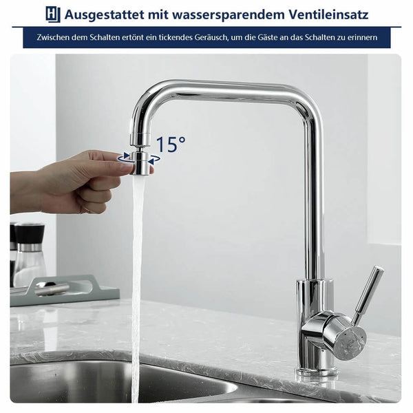 360 ° rotatable kitchen sink faucet