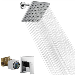 Chrome Shower Head Set