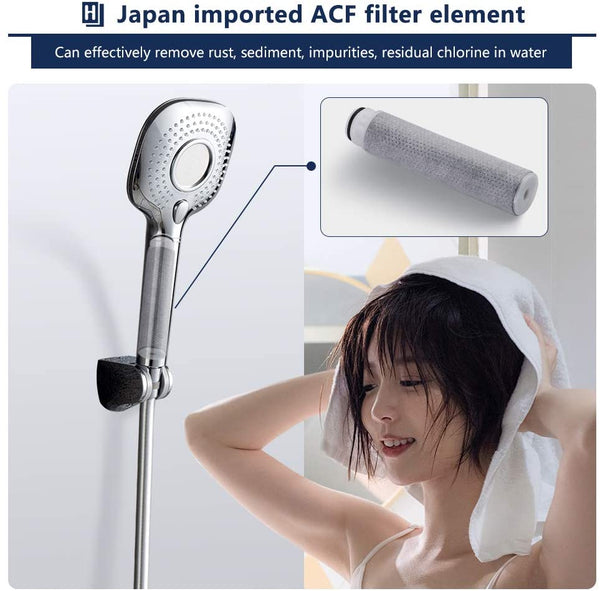 Square Filtered Handheld Shower Head