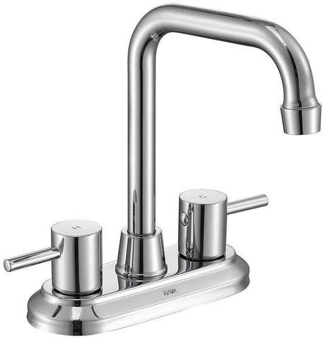 High Arc Swivel Spout Bathroom Sink Faucet