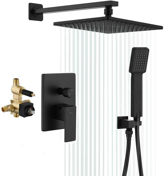 Matte Black Shower Set