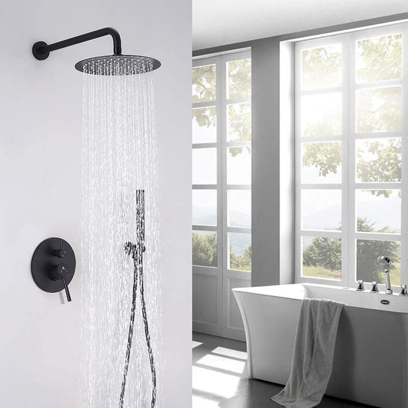 Matte Black Shower System