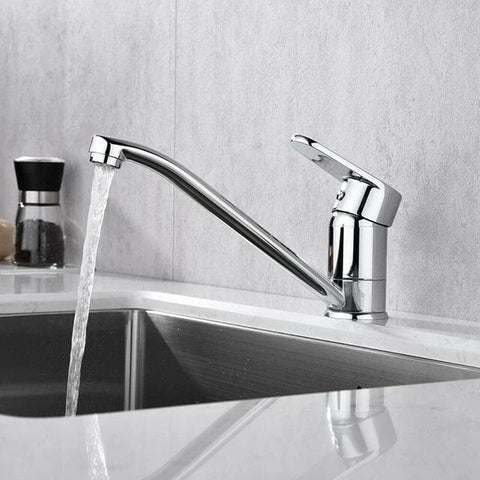 Brass chrome single handle low pressure kitchen faucet Homelody - Homelody