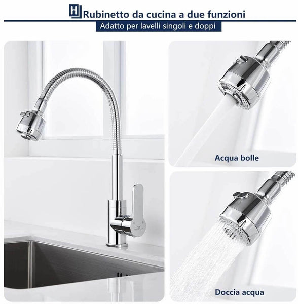 brass single lever kitchen faucets
