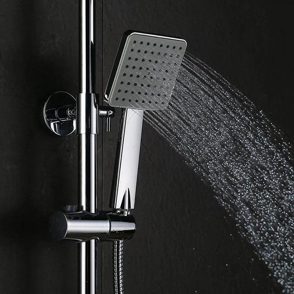 Homelody 2 Functions Thermostatic Shower Column with LCD Hydroelectric Display shower time and temperature - Homelody