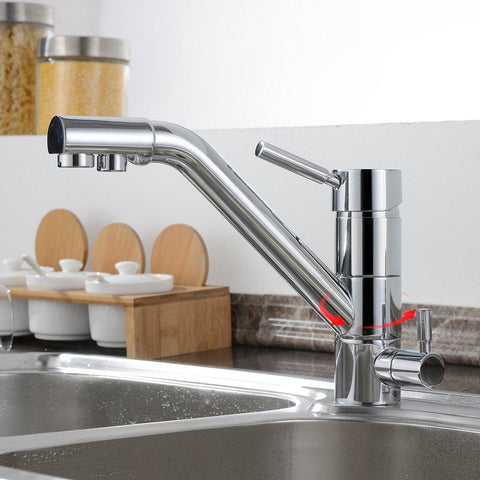 Homelody 3 way kitchen faucet with water purification 3-in-1 mixing faucet modern kitchen essential - Homelody