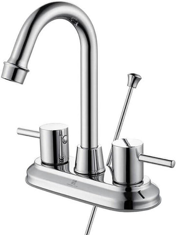 HOMELODY 360 Degree Swivel 2-Handle Bathroom Faucet Chrome - Homelody