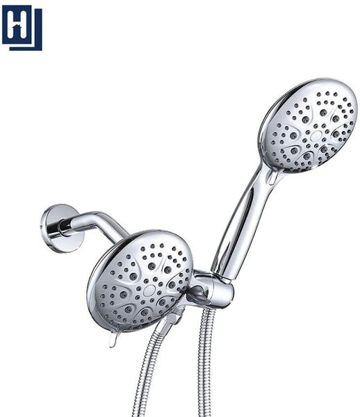 "Homelody 5"" High Pressure Rainfall Shower Combo, 6-Setting Rain Shower Head&Handheld Shower Head - Homelody"