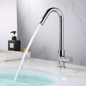 HOMELODY Bathroom Faucet Cold and Hot Water Single Lever Rotatable 360 ° Taps - Homelody