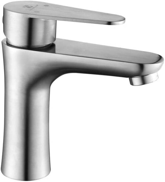 HOMELODY Bathroom Single Handle Lavatory Faucet Brushed Nickel - Homelody